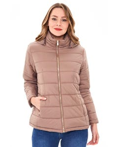 PARKA DESMONTABLE ELASTICO MUJER TAUPE