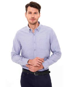 CAMISA CASUAL OXFORD HOMBRE GRIS