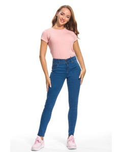 JEANS PUSHUP SUPER SKINNY MUJER AZUL